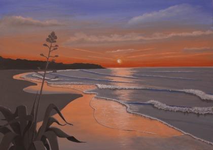 Spiaggia con agave