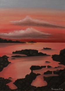 tramonto su Isola