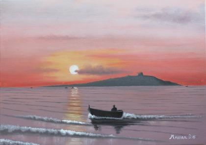 tramonto a Isola delle Femmine